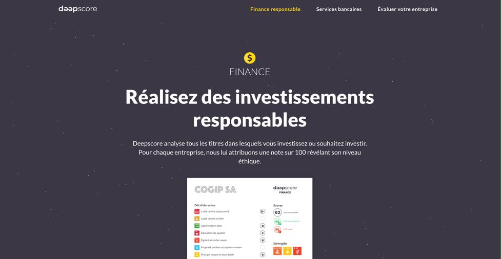 Client Deepscore. Pademas est une agence web présente à Aubenas et Lyon pour créer votre site internet.