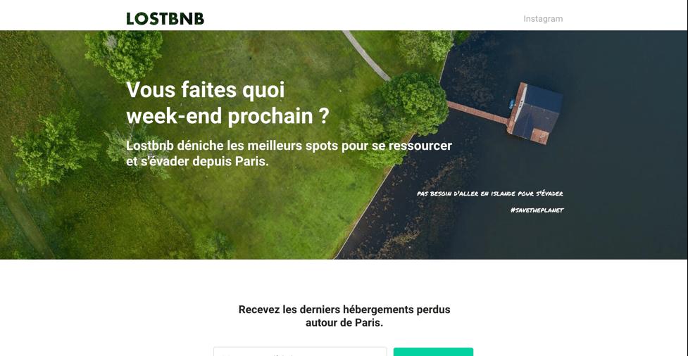 Client Lostbnb. Pademas est une agence web présente à Aubenas et Lyon pour créer votre site internet.
